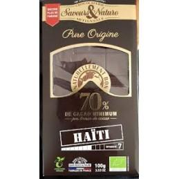 Chocolat Noir 70 % Cacao...